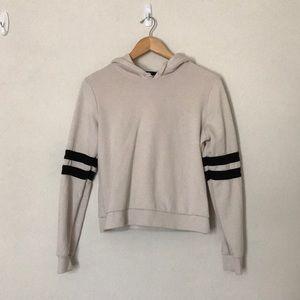 Tops - Forever21 White Varsity hoodie
